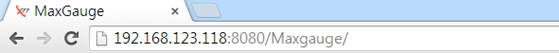 Image 1-1. Enter the Code in the Address Bar for Connection with MaxGauge